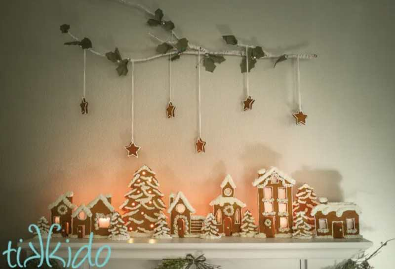 Gingerbread Christmas Village Candle holders