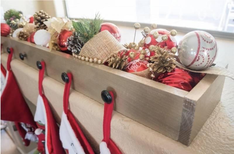 Wood Christmas Stocking Hanger