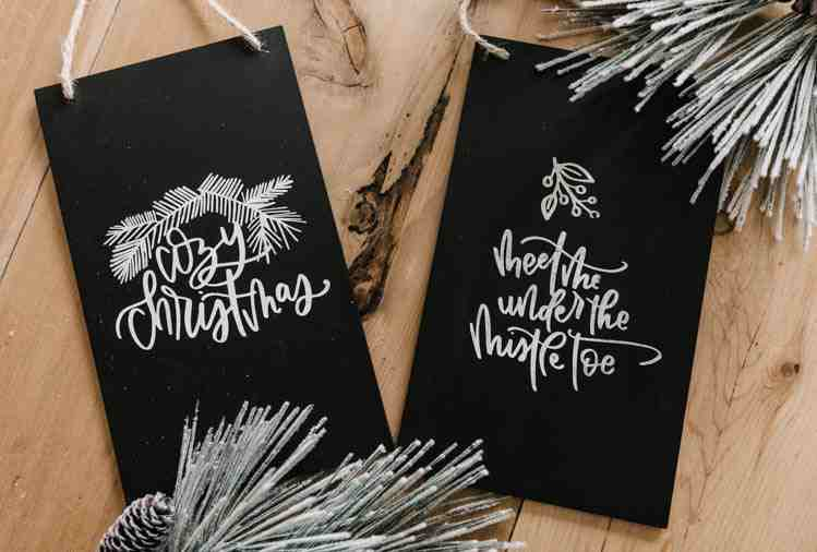 Faux Chalkboard Signs Christmas Decor