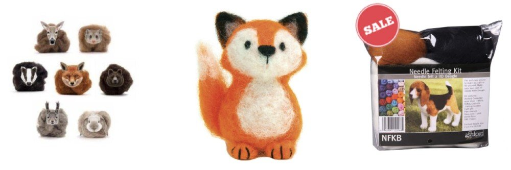 Felting Kits - gift ideas for crafters and creatives
