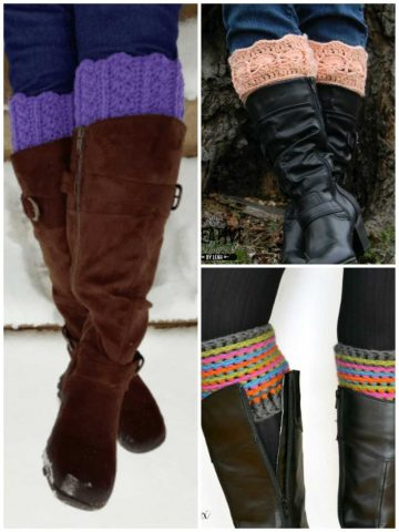 Boot Cuff and Boot Topper Free Crochet Patterns