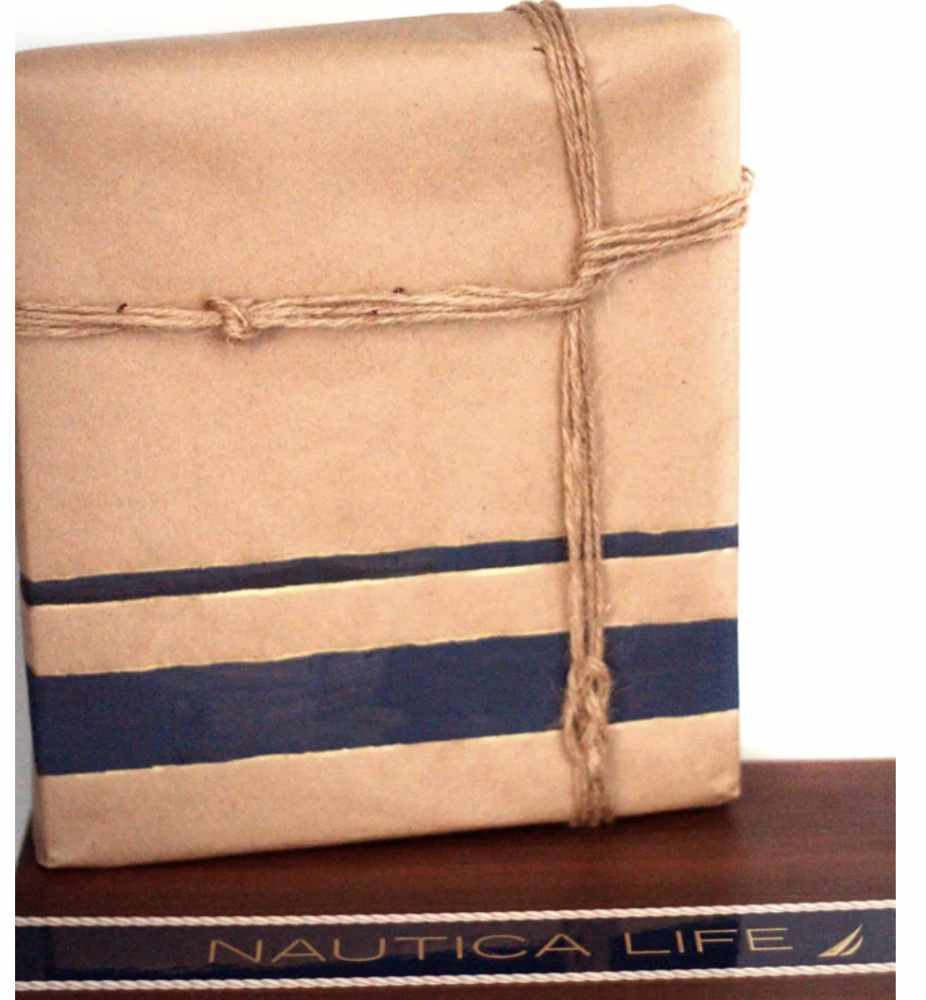 Unique gift wrap ideas for him. Nautical themed paper