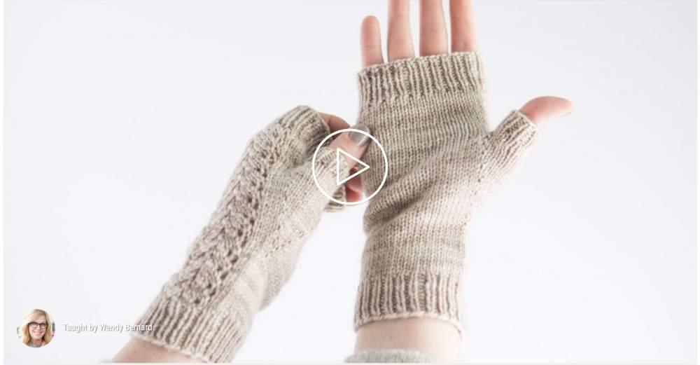 How to knit fingerless gloves online class
