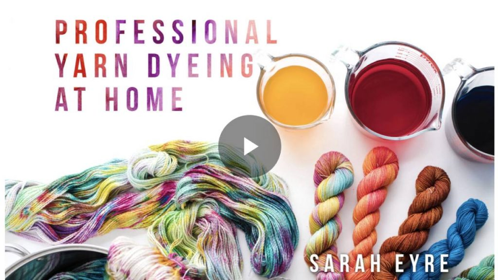 how to dye yarn professionally at home