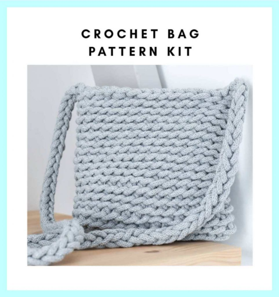 crochet kit for making a purse or bag