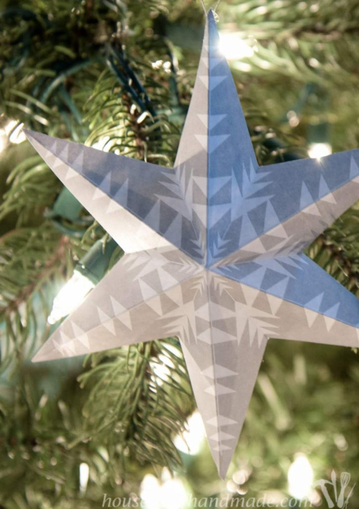 Paper Star holiday ornament