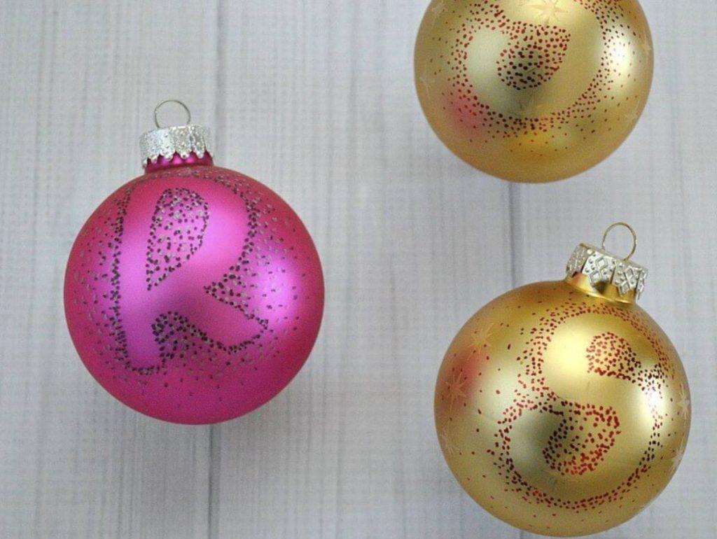 Monogrammed DIY Ball Ornaments