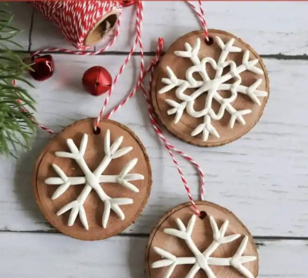 how to make clay snowflake ornaments