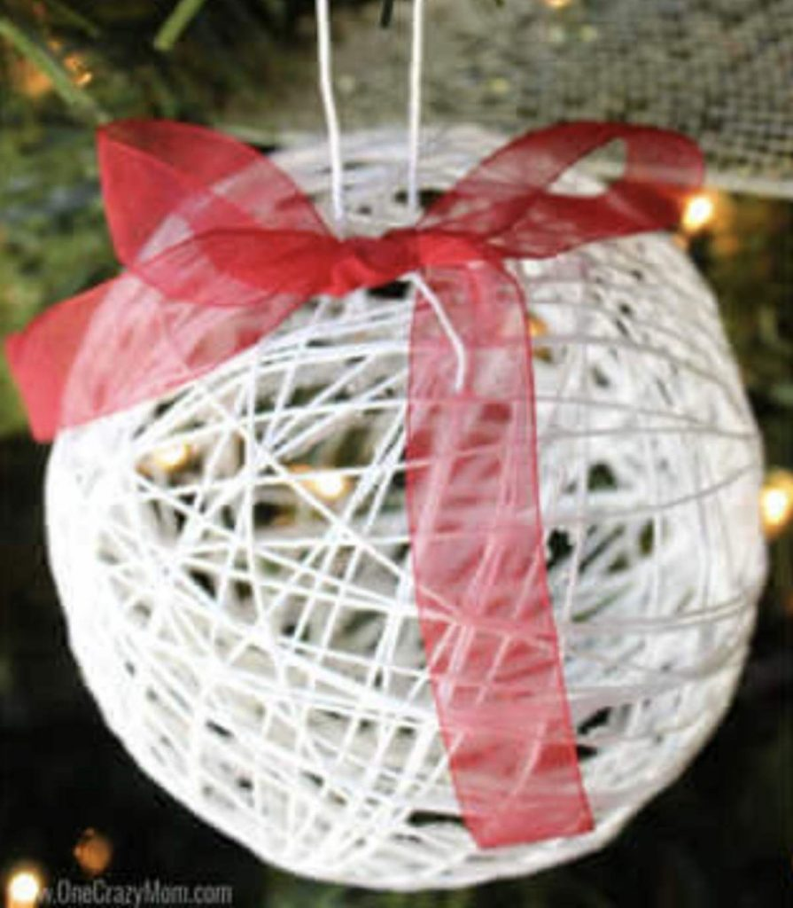 ball ornament made with string
