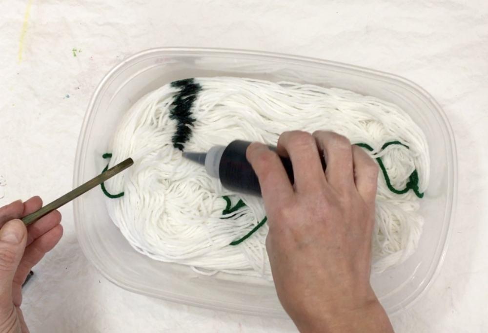 Apply the liquid dye