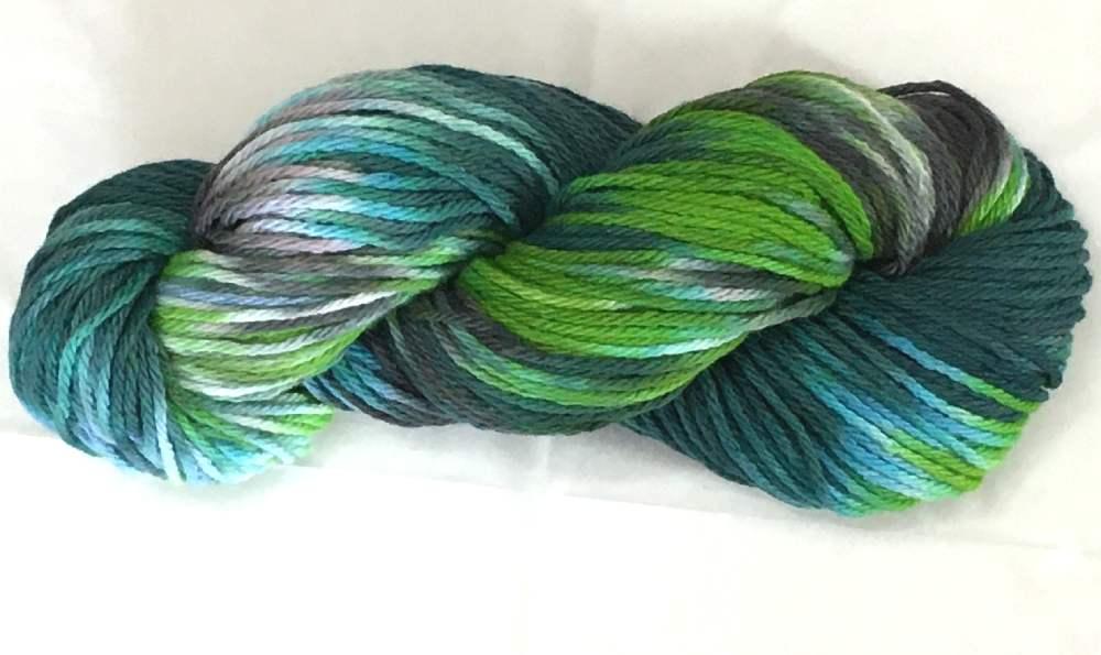 Hand Dyed Skein of Cotton Yarn