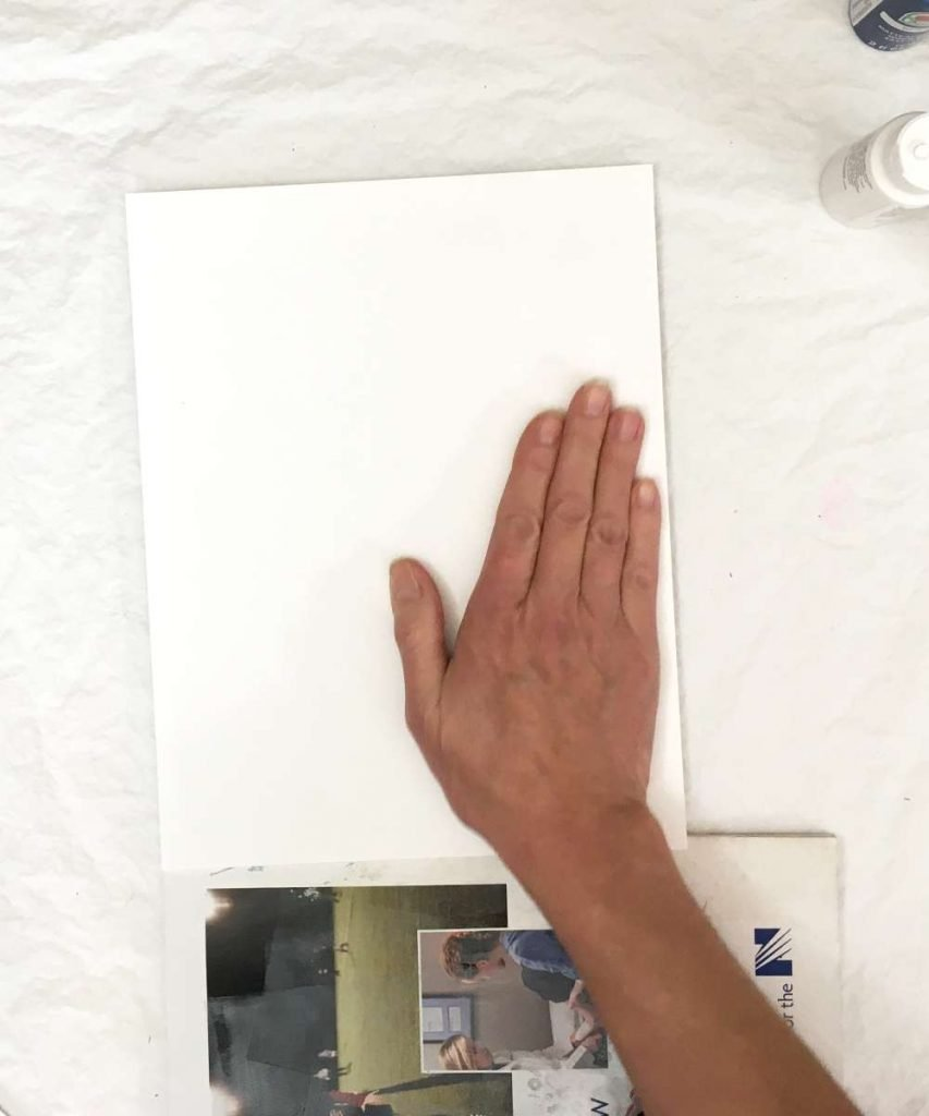 Pull the gel print with the paper