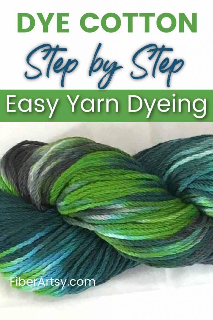 dyeing plant fiber yarn