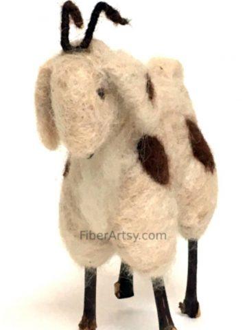 Beginner Guide to Felting, Needle Felted Goat Sculpture