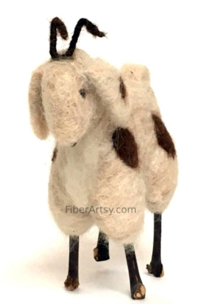 Beginner Guide to Felting, Needle Felted Goat Sculpture