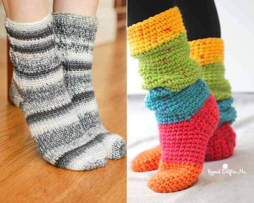 All free patterns for crochet socks