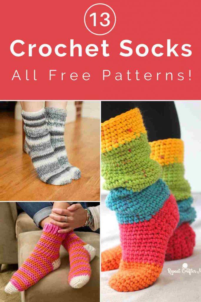 Crochet Patterns for Socks and Slipper Socks