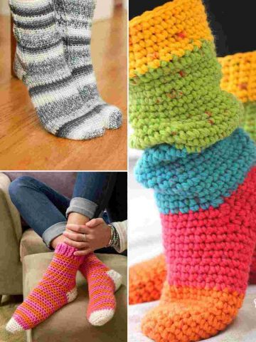 Sock and Slipper Sock Patterns for crochet
