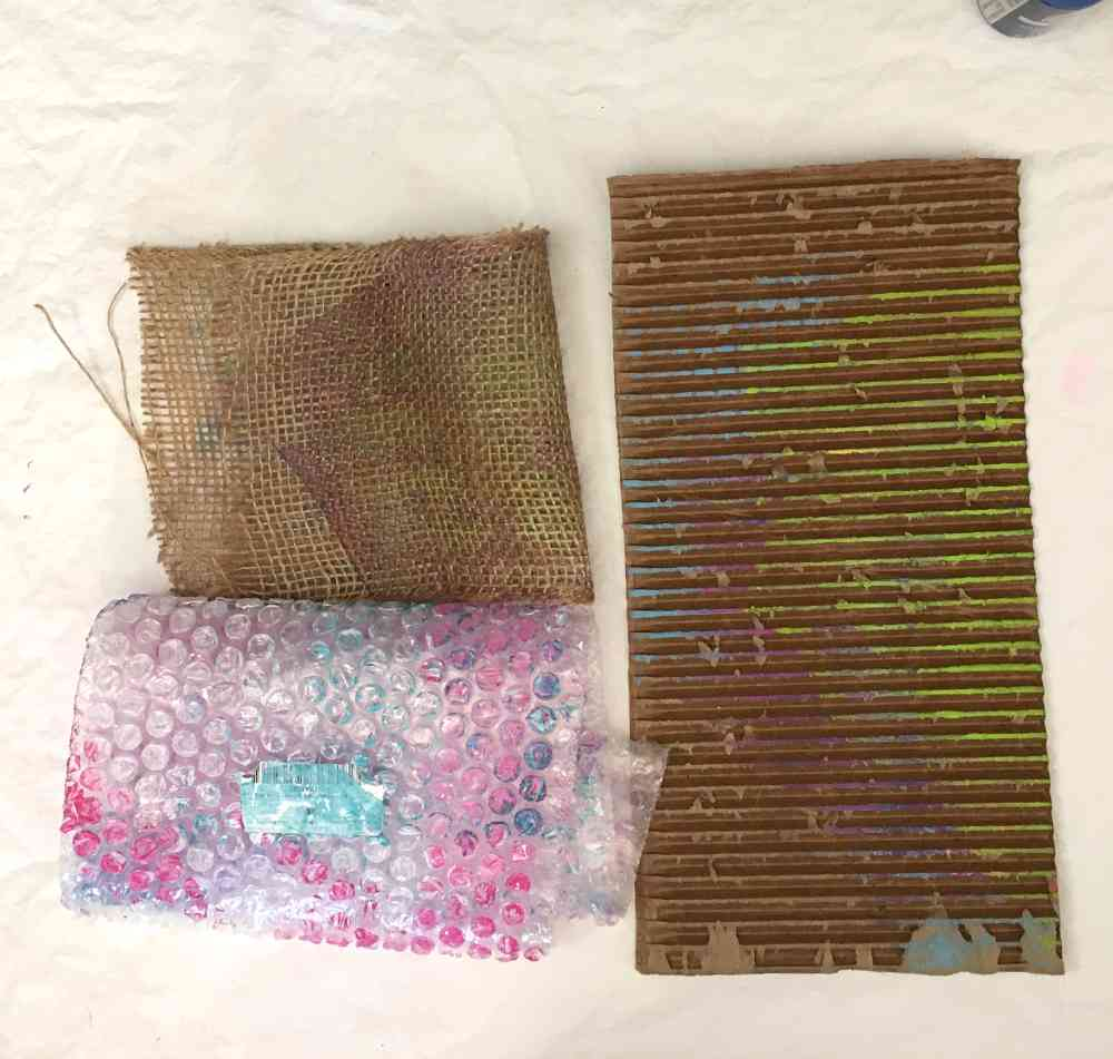 homemade texture tools for printmaking