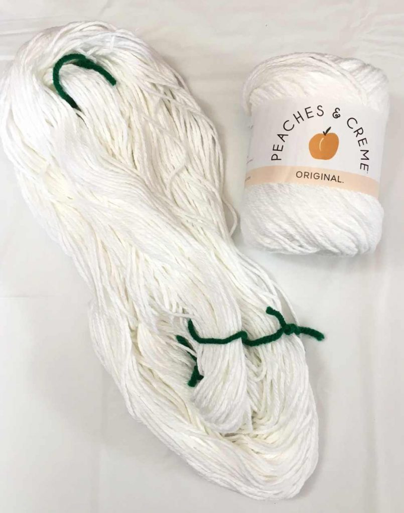 Cotton Yarn in ball and skein form
