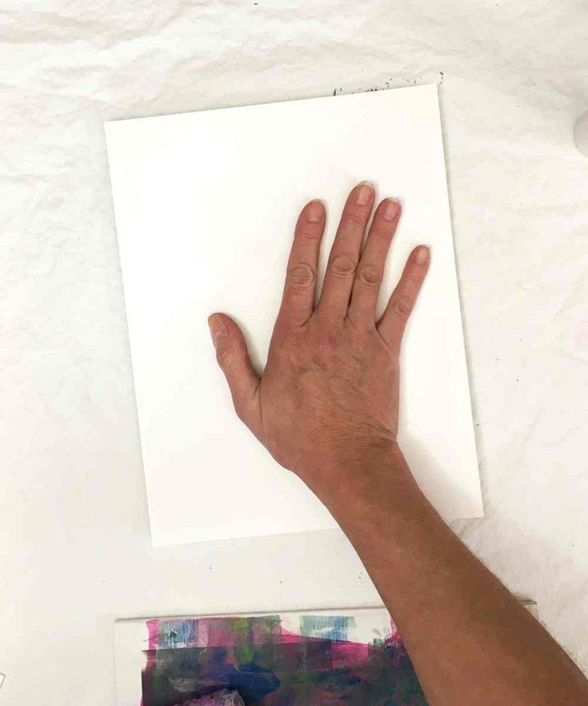 Pull the gel printed image