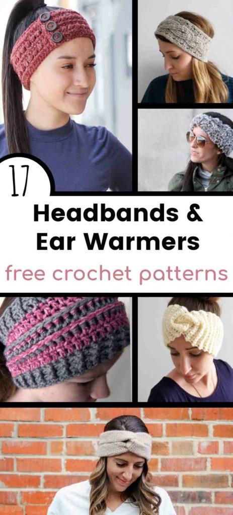 Free crochet ear warmer pattern