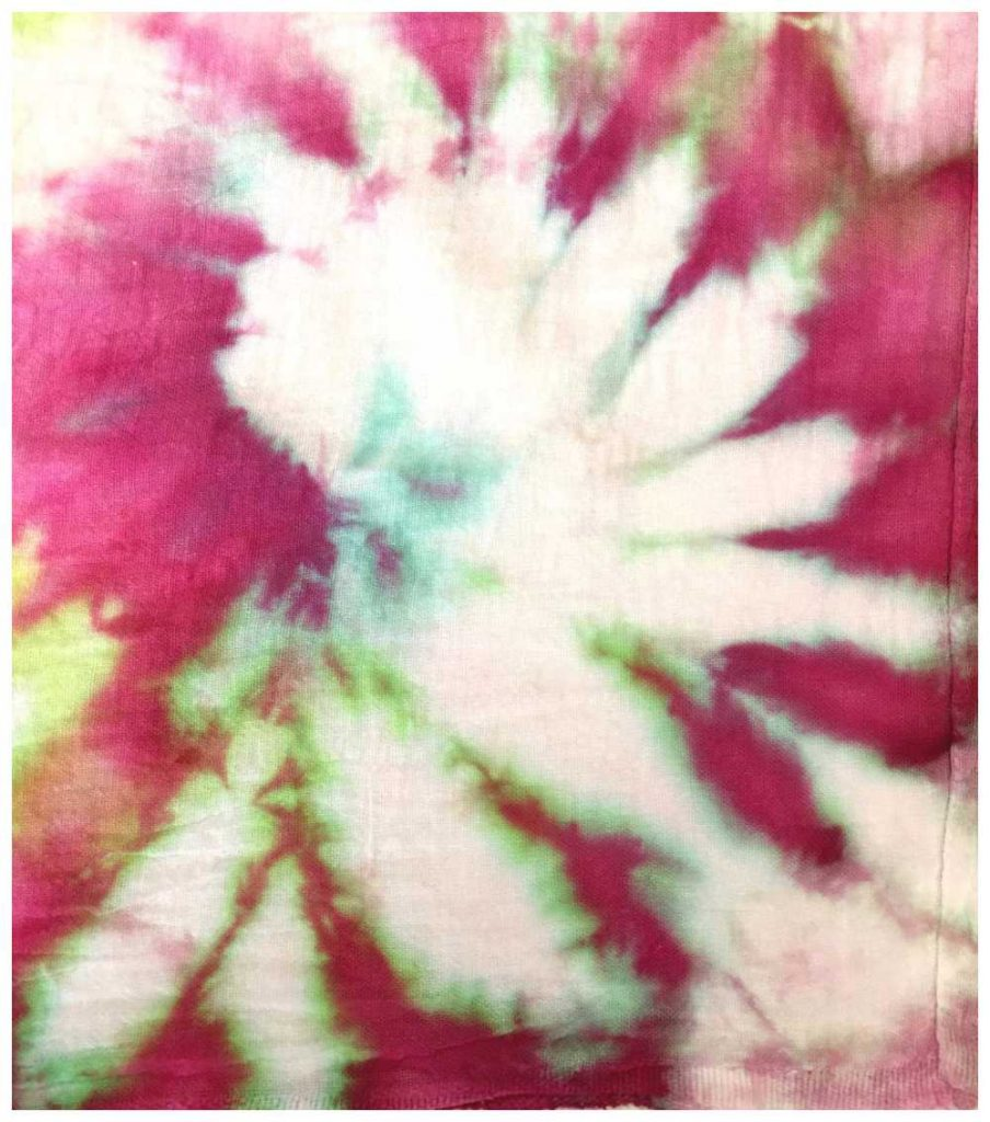 Closeup of snow dyed cotton towel