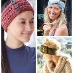 Crochet headbands and earwarmers. Free patterns