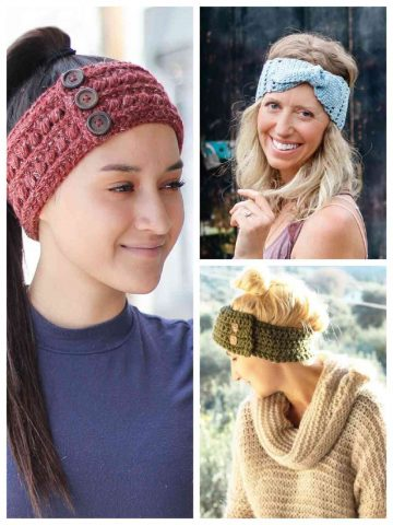 Crochet headbands and earwarmers. Free patterns