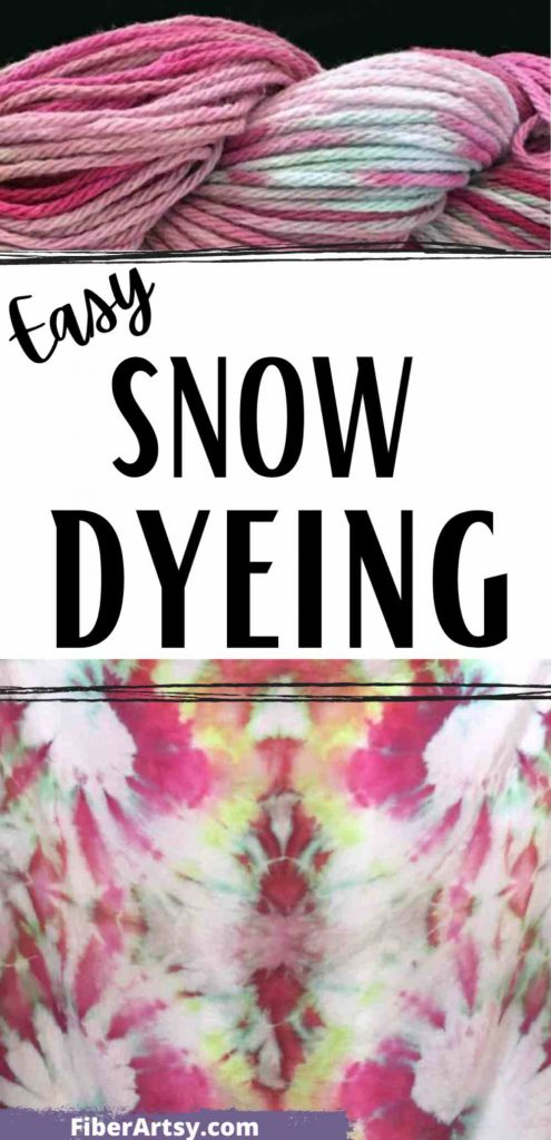Snow Dyeing or Ice Dyeing Cotton