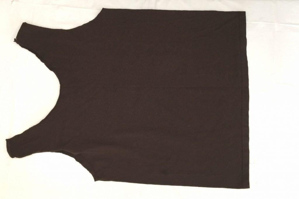 bleach tie dyeing a brown shirt