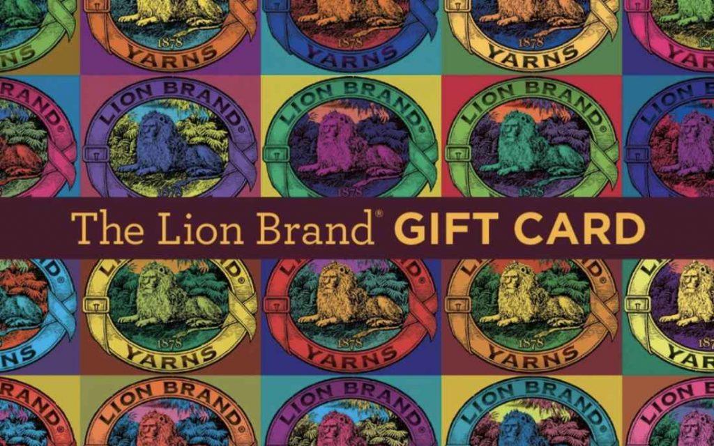Lion brand yarn company gift card