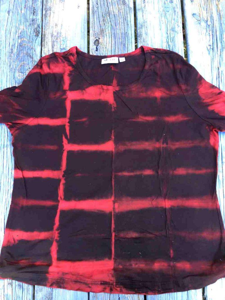 Accordion fold purple shirt