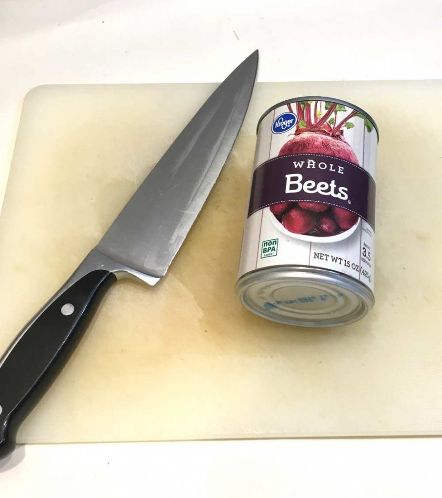 Use canned beets for dyeing