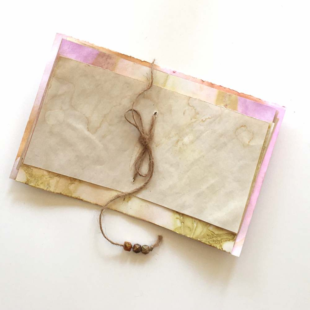 Embellish your journal with beads