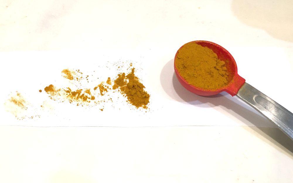 Measure one tablespoon of turmeric