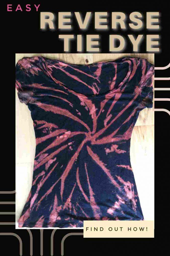 Reverse Bleach Tie Dye Patterns