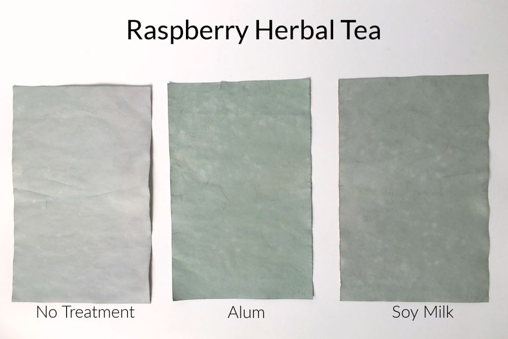 Paper stained with herbal tea
