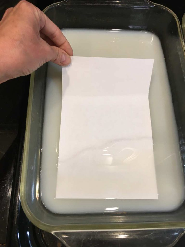 Staining paper with tea - mordant the papers