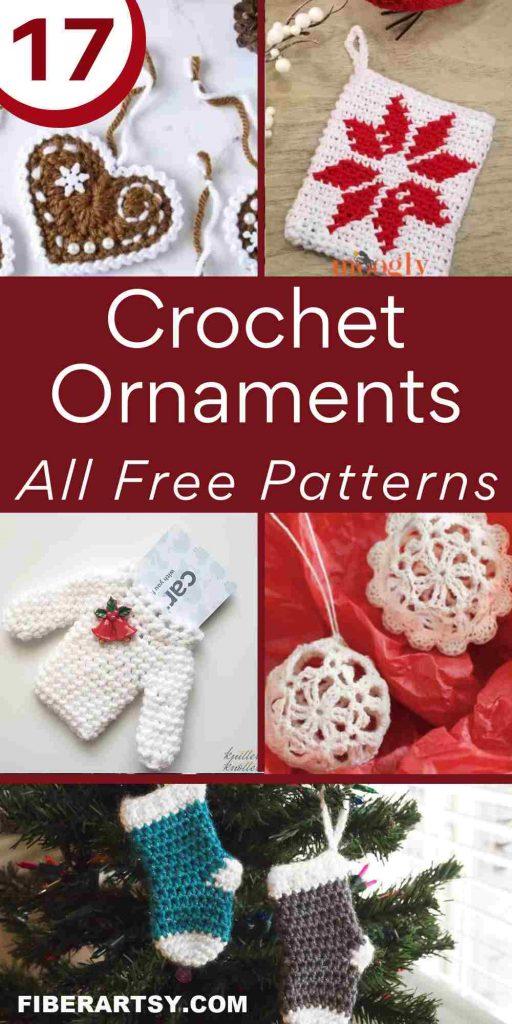 Christmas tree ornament crochet patterns