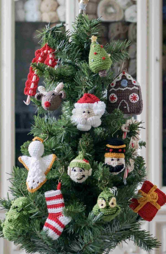 crochet Christmas ornament kid