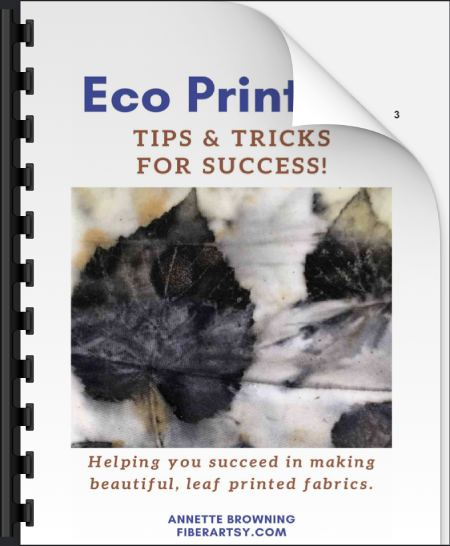 Tips and tricks for eco printing ebook cover