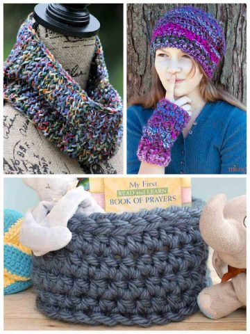 one skein patterns for crochet and knitting