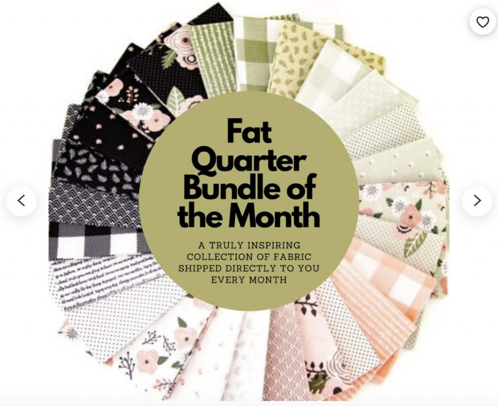 Fat Quarter Fabric of the month subscription