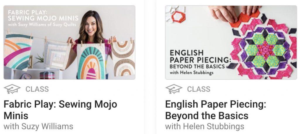 quilting classes online