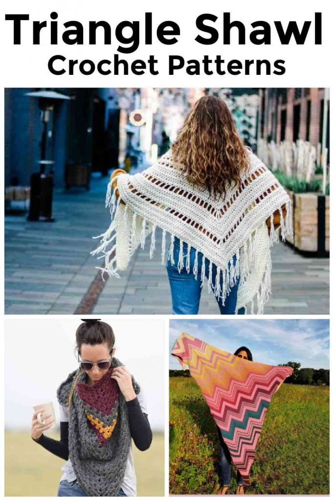 crochet patterns for triangle shawls