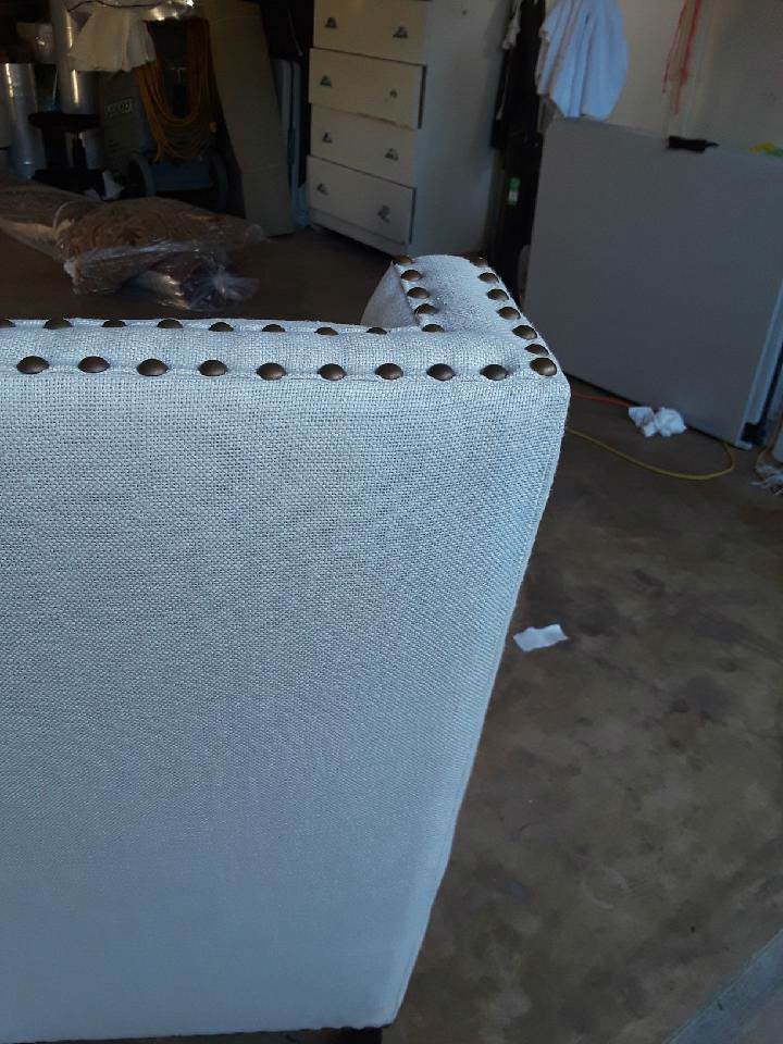 Cleaning Black Grease on White Linen Chair