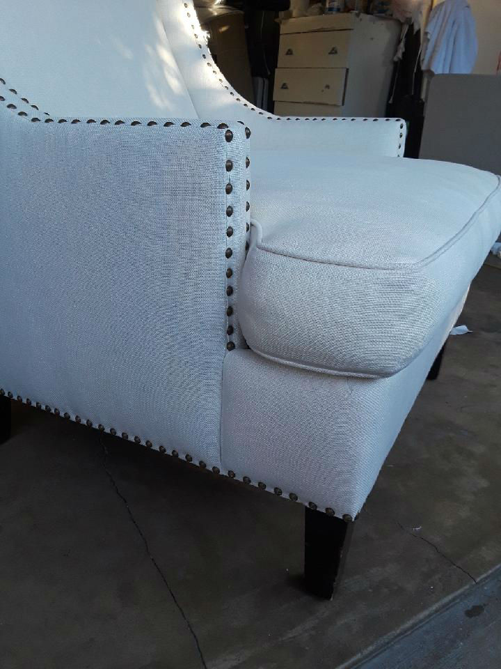 Cleaning Red Wine on White Linen Chair - FiberCare