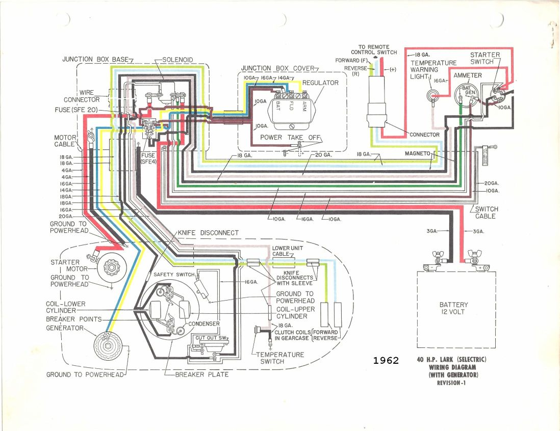 Evinrude Lark External Wiring Plug Diagram Free Download