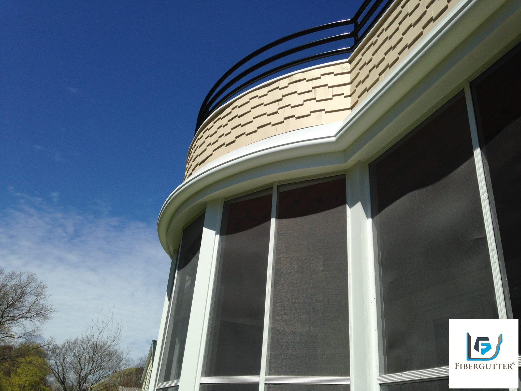 Fiberglass Gutter Installation Custom Radius